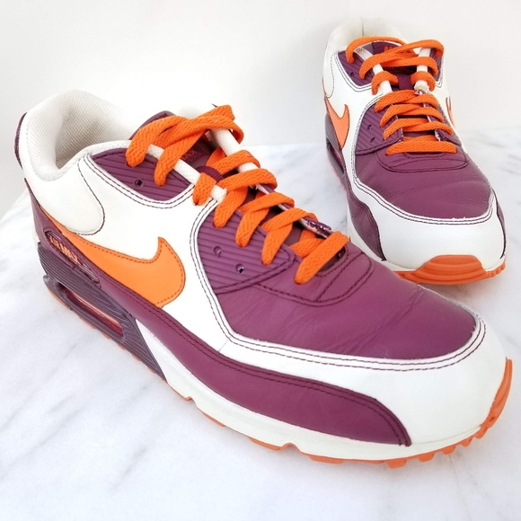nike air max 90 maroon and orange